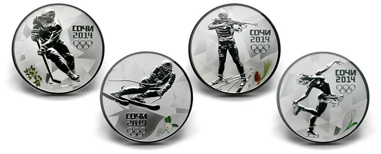 Серебряные монеты сочи 2014 олимпиада